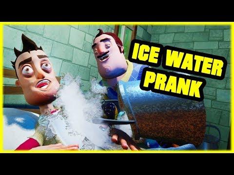 ICE WATER PRANK on my NEIGHBOR - Hello Neighbor Mod
