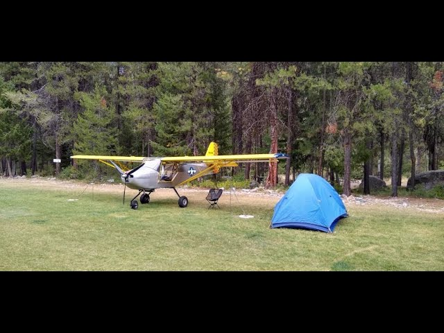 Spectacular Johnson Creek Idaho #Kitfox Airplane Camping