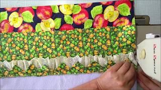 Pano de Prato,com Barrado tema de Frutas