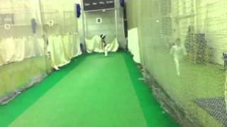 Hamza ahmed 90 mph on the bowling machine