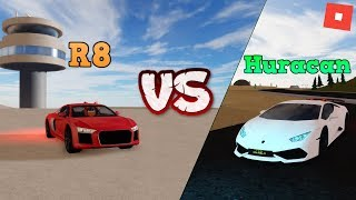 LAMBORGHINI HURACAN VS AUDI R8! | ROBLOX: Vehicle Simulator