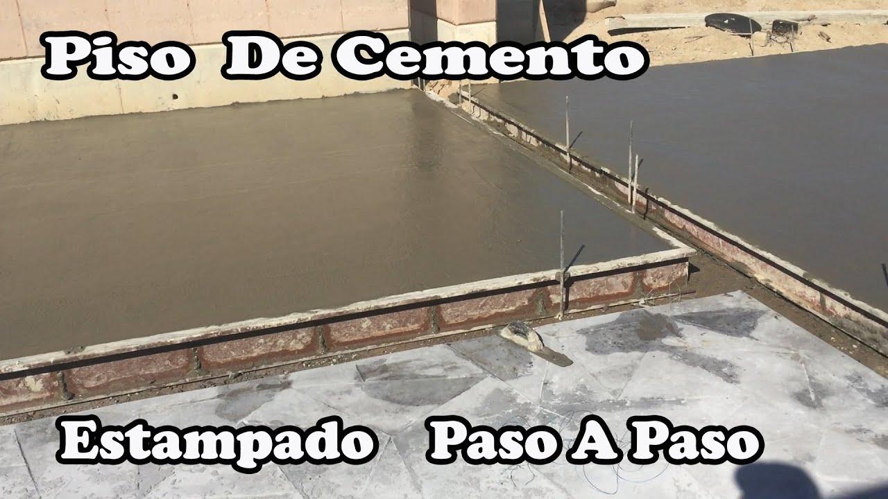Como hacer un piso de cemento youtube - Como hacer cemento ...
