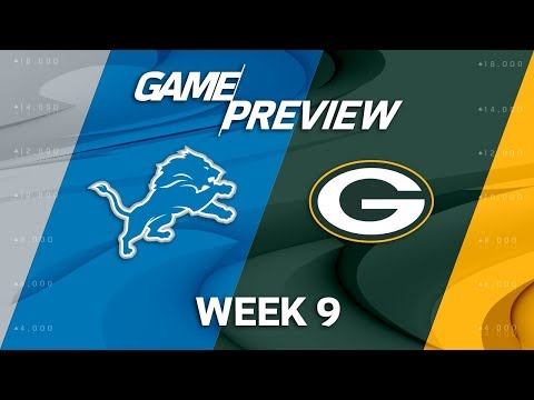 Detroit Lions vs. Green Bay Packers | Week 9 Game Preview | NFL Playbook