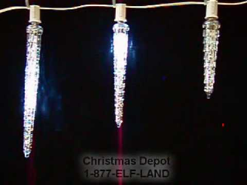- ChristmasDepot.com - Dripping Icicle Drops - YouTube