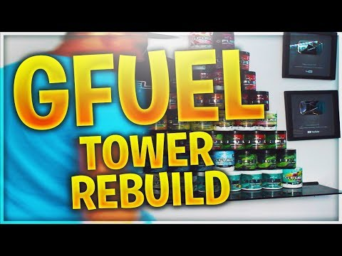 MORE GFUEL TUB UNBOXING & REBUILDING MY TOWER