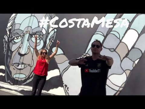 COSTA MESA - ORANGE COUNTY CITY of the ARTS - FOOD and SHOPPING TOUR - vlog