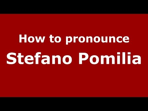 How to pronounce Stefano Pomilia (Italian/Italy)  - PronounceNames.com