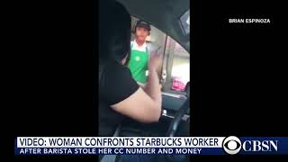 Watch Starbucks customer confronts employee for stealing credit card info