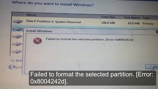 Video Failed to format the selected partition Error: 0x8004242d Windows cannot be installed to this disk download MP3, 3GP, MP4, WEBM, AVI, FLV Juni 2018