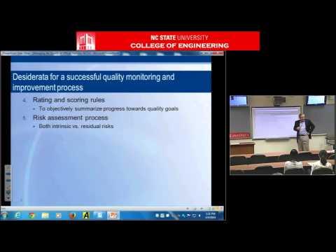 ECE 804 - Spring 2014 - Dr  Paul Biemer - Managing Data Quality for Statistical Organization