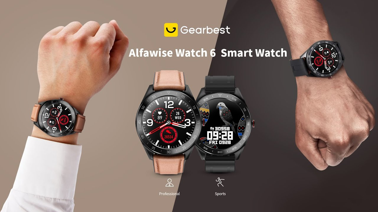 Alfawise Watch 6 47mm Smart Watch(get free gift) -  Gearbest