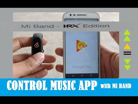 control music app with mi band Hrx edition