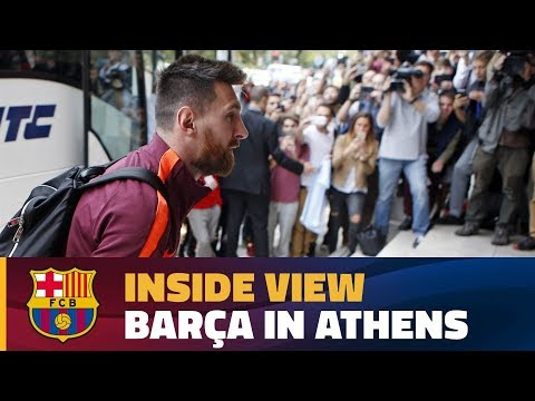 [BEHIND THE SCENES] Barça's 12 hours in the Greek capital