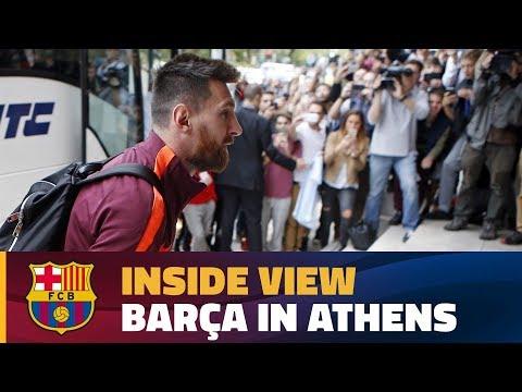 [BEHIND THE SCENES] Barça's 12 hours in the Greek capital