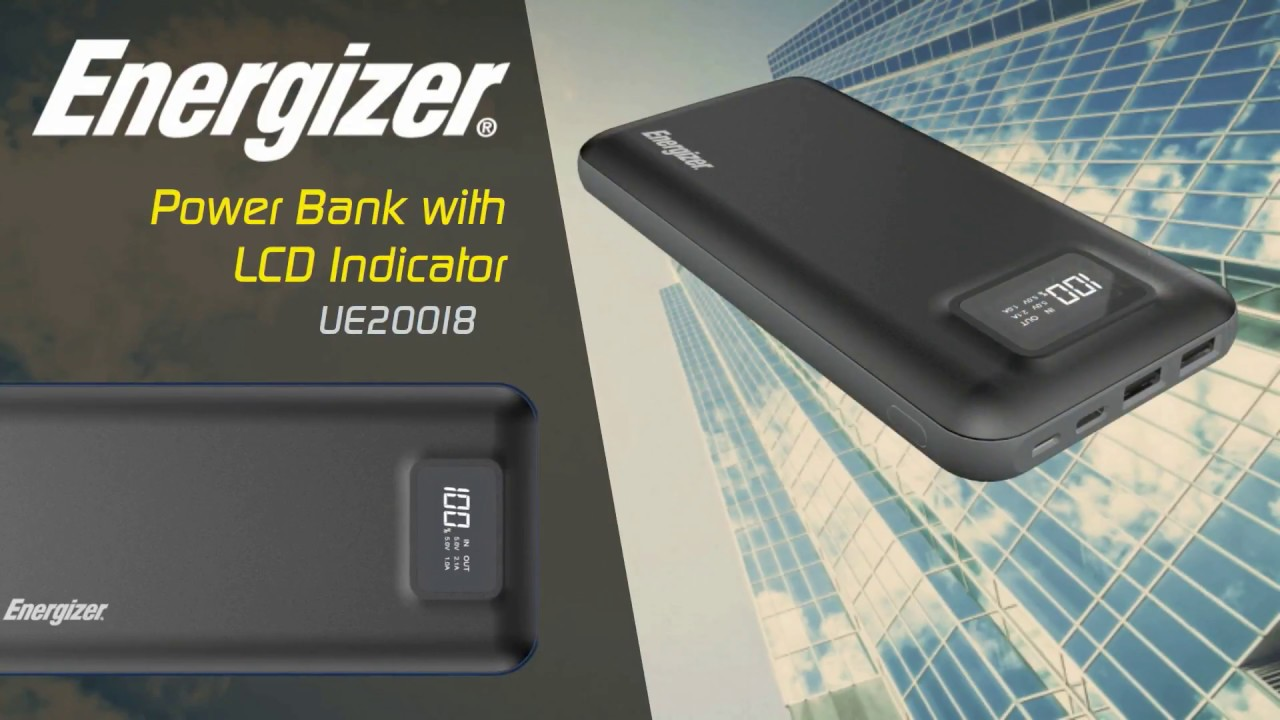 Energizer® High Capacity Power Bank with LCD Indicator (UE20018)