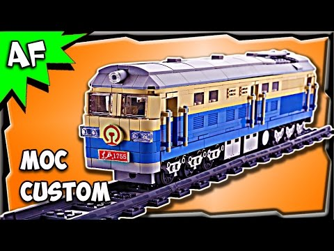 Custom Lego EAST WIND 1755 TRAIN MOC Stop Motion Build Review