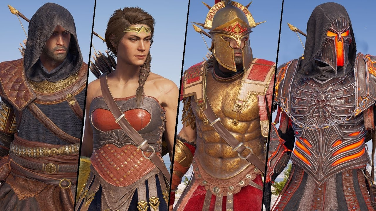Assassin S Creed Odyssey All Armor Sets And Outfits Showcase