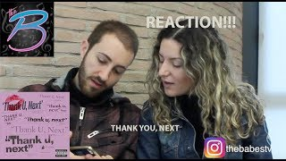 Ariana Grande - thank u, next REACTION!!!