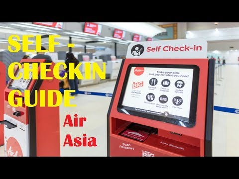 Self Check In Air Asia Guide | process at Don Muang Airport,Bangkok  no more stand in queue