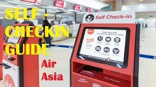 Self Check In Air Asia Guide | process at Don Muang Airport,Bangkok  no more stand in queue