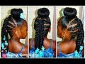 Just Another Bun Hairstyle | Little Girls | 4a Natural Hair
