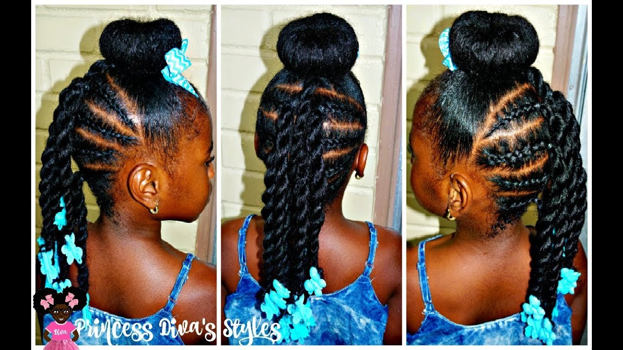 Just Another Bun Hairstyle Little Girls 4a Natural Hair YouTube