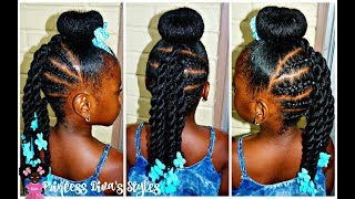 Just Another Bun Hairstyle   Little Girls   4a Natural Hair