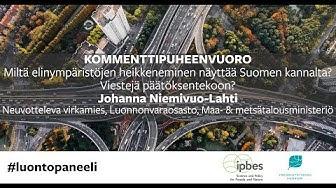 Johanna Niemivuo Lahti: Kommenttipuheenvuoro