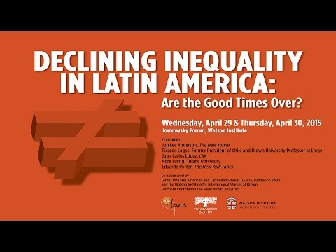Declining Inequality in Latin America: Are the Good Times Over? - Keynote