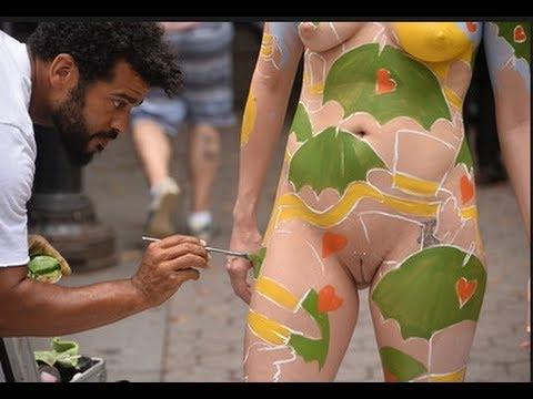 Amsterdam Body Painting Festival Parade