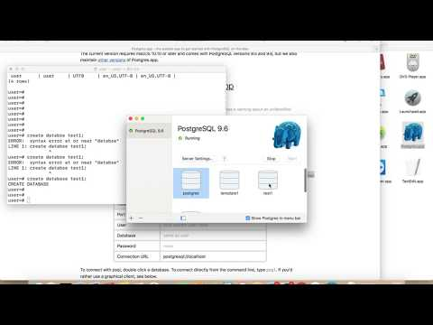 How to Install and Configure PostgreSQL Server on macOS Sierra 10.12 Mac OS X