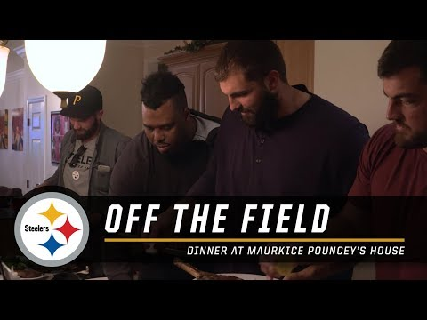 Steelers Offensive Lineman Have a Feast at Maurkice Pouncey's House | Pittsburgh Steelers