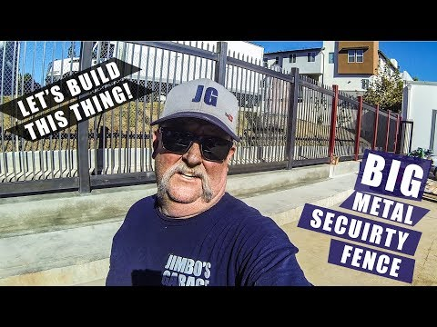 Big Metal Security Fence | JIMBO'S GARAGE
