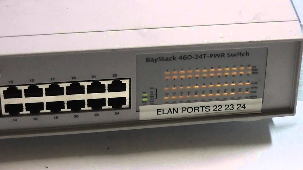 Selling Nortel BayStack 460 24T PWR 24 Port POE Switch BPS2000 2GE SFP Exp Module On EBay