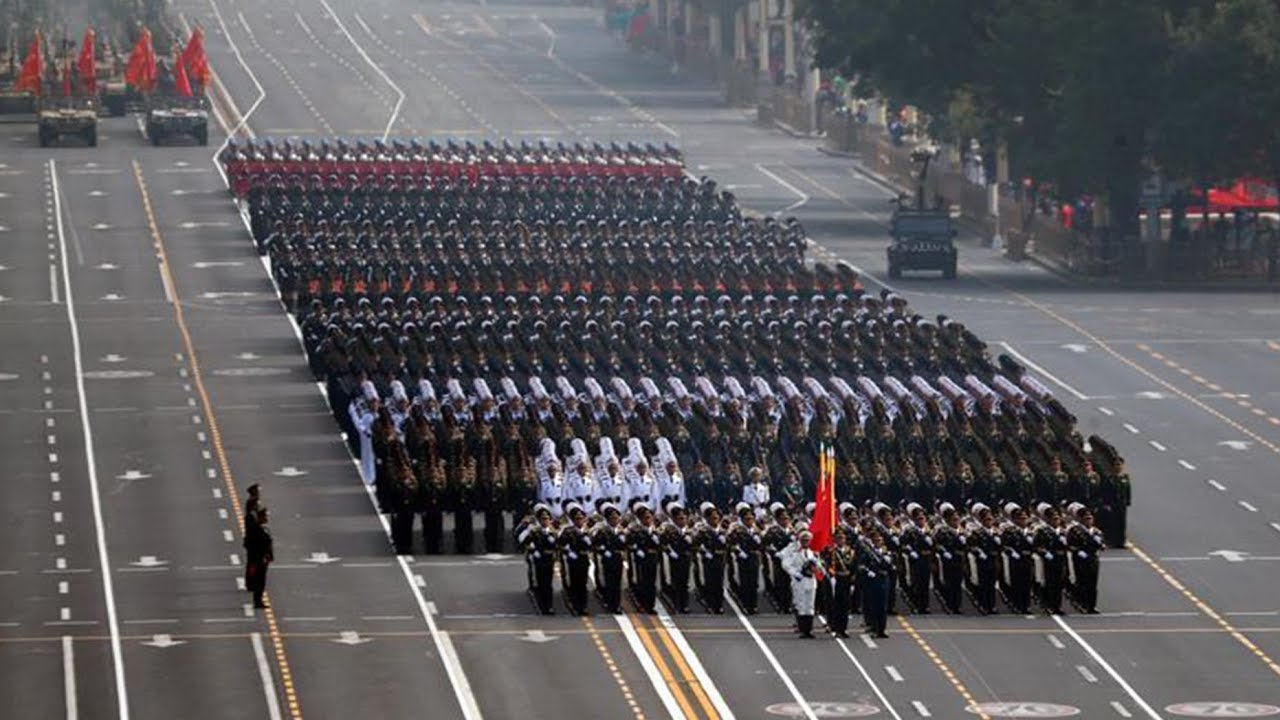 Fifteen Military Units March In Formation For National Day
