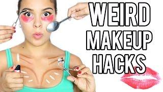connectYoutube - 13 WEIRD MakeUp Hacks that Actually Work!
