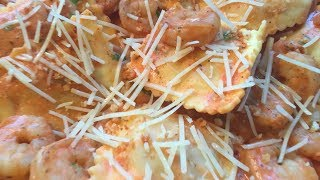 Cooking with Gabby: HelloFresh Lobster Ravioli and Shrimp in Tomato Cream Sauce Recipe