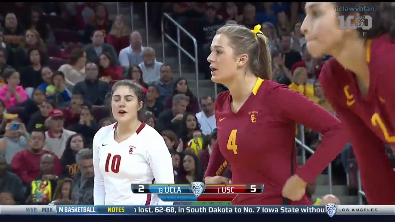 Ucla At Usc Ncaa Women S Volleyball Nov 25th 2015 Youtube