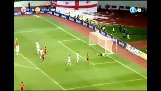 Georgia vs Spain 0-1 2012 highlights