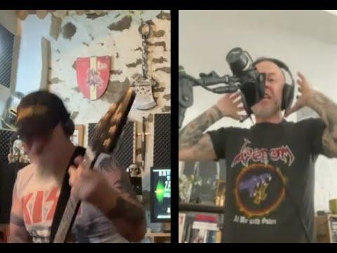 "Behemoth's Nergal and Venom's Jeff ""Mantas"" Dunn cover Venom's ""Satanachist"""