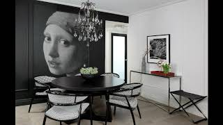 Bold in Black and White Living - Interiors Over $100K - Gold