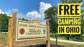 Free Camping at H๐ok Lake CG, Jesse Owens State Park, Ohio