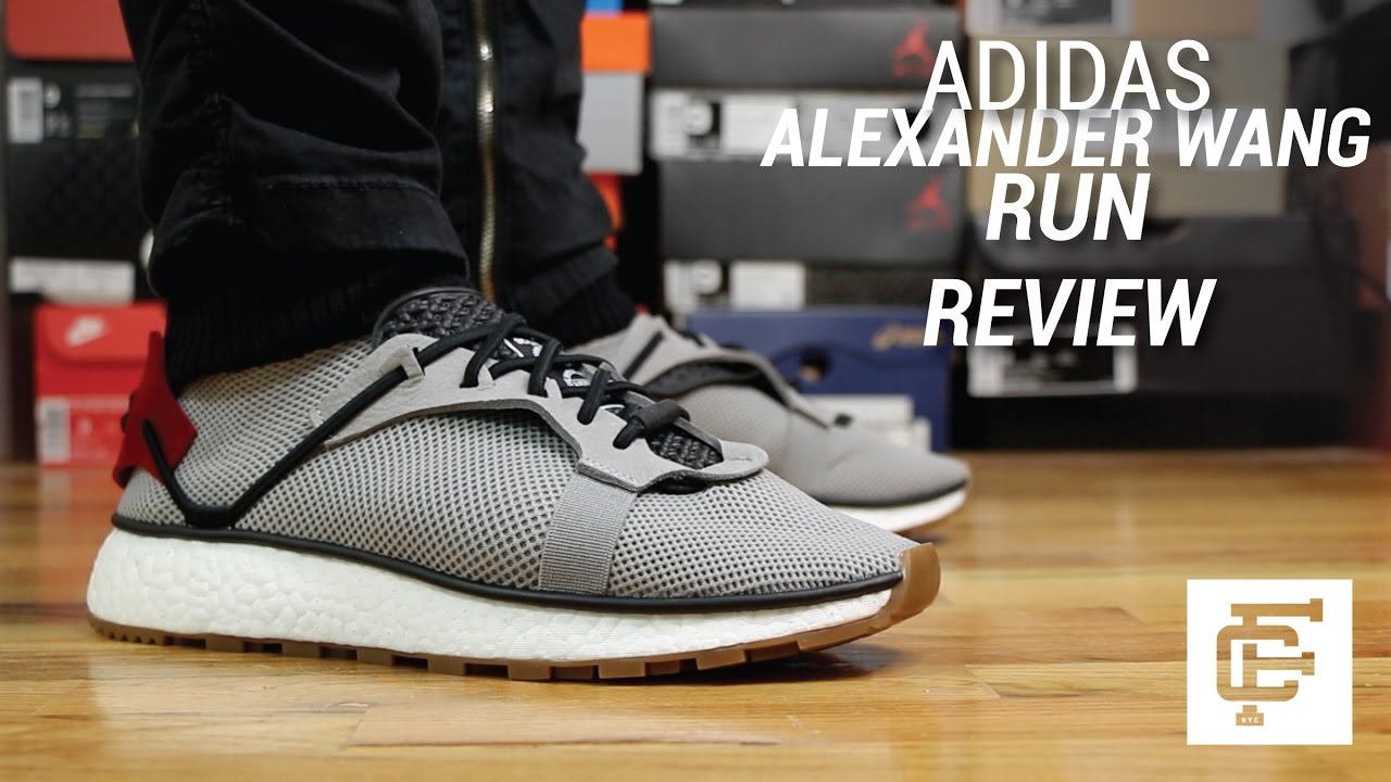 Más bien pakistaní Donación  ADIDAS ALEXANDER WANG AW RUN REVIEW - YouTube