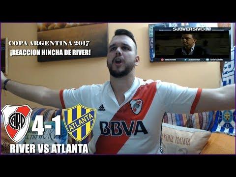 RIVER PLATE VS ATLANTA 4-1 | REACCIONES | COPA ARGENTINA 2017
