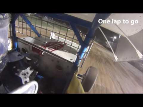 Onboard Plymouth Dirt Track 8/6/16 Sprint Car Heat, B, A Mains
