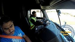 Truck Driving Student - First day at truck shifting and backing