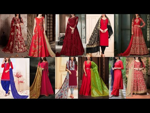 Latest red designs of Salwaa | Kameez | Kurtis | Palazzo | Churidar collection 2019-2020
