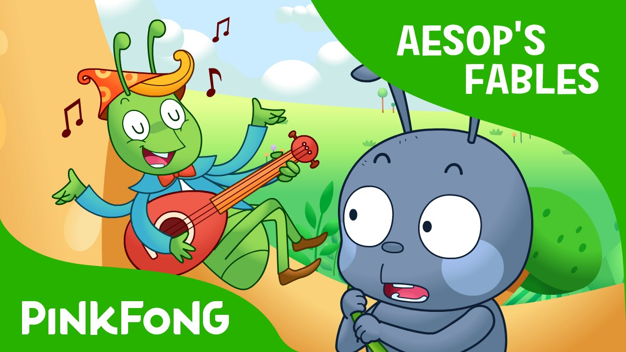 picture about The Ant and the Grasshopper Story Printable named The Ant and the Grhopper Aesops Fables PINKFONG Tale Season for Youngsters