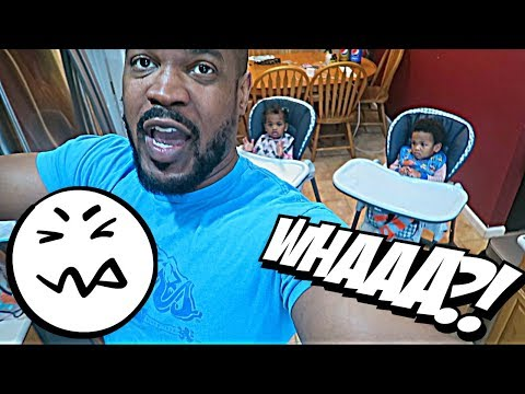DAD IS LEFT ALONE WITH TWIN BABIES ALL DAY! 👶🏽👶🏾😂😂