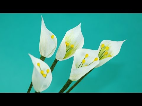 Paper Flowers - DIY White Single Leaf Flower, Very Easy Craft
